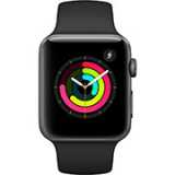Apple Watch Series 3 GPS 38mm Space Gray Aluminum Case with Black Sport Band