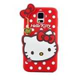 S5 3D Cute Dots Kitty Bow TPU Silicone Soft Case